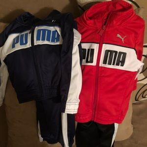 Boys Puma jacket and pant set